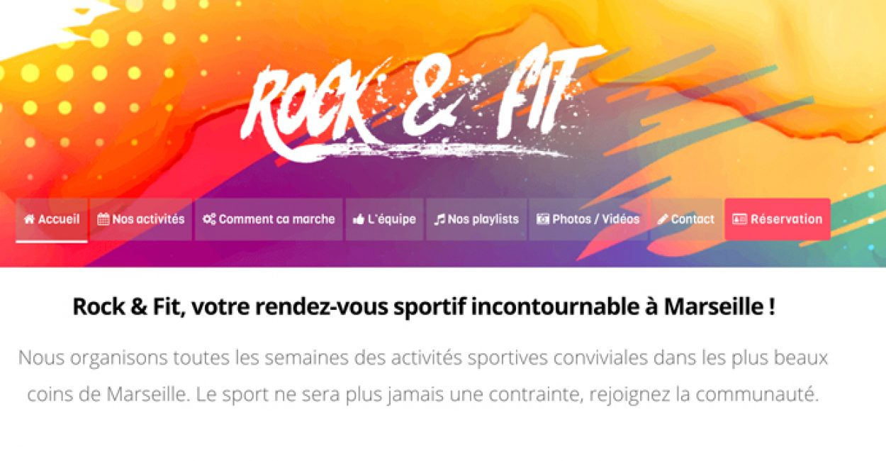 Site web de Rock And Fit